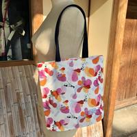 【山】【ルネ花2色】【全3種類】A4マチ付きトートバッグ