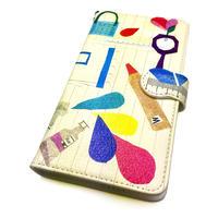 Android手帳型ケース/S,Mサイズ★10日でお届け【文房具】(パプトリー)【全2色】