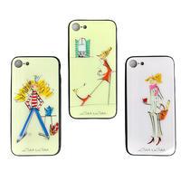 iphone SE2(第二世代)/ 11 Pro/iphone XS/X/7/8 背面ガラスケース【パリジェンヌシリーズ】(全3柄)