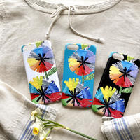 iPhoneプラスチックケース【虹花】(全3色)iPhone12/12Pro/12 mini/11/11 Pro/XR/X/XS/7/8/ SE2(第二世代)/6/6s /5/5s/SE(初代)