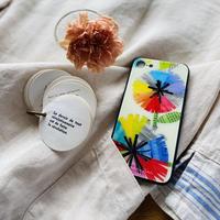 iphone SE2(第二世代)/11 Pro/XS/X/7/8 背面ガラスケース【虹花】(フルールアンシエル)(全2色)