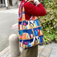 たっぷり入るLサイズ・マルシェエコバッグ【本】