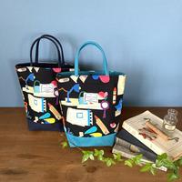 *春の新商品*帆布コンビミニトートバッグ【文房具】(2パターン)