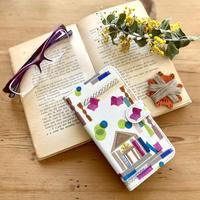 Android手帳型ケース/Lサイズ【図書館】(ビブリオテーク)