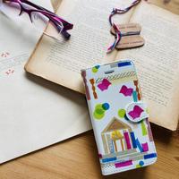 iphone11/ 11Promax/XR/XSMax/8 plus/ 7 plus/6 plus/6S plus手帳型ケース【図書館】(ビブリオテーク))