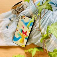 iphone SE2(第二世代)/11 Pro/XS/X/7/8 背面ガラスケース【鳥】(ロワゾ)【全4色】