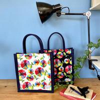 【2020秋の新商品】帆布トートバッグ【虹花】(フルールアンシエル)【全2色】