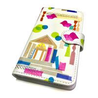 Android手帳型ケース/Lサイズ★10日でお届け【図書館】(ビブリオテーク)