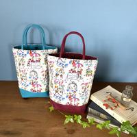 *春の新商品*帆布コンビミニトートバッグ【マルシェ】【セーヌ】(全2柄・4パターン)