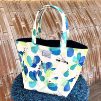 【ルネ花】ブルー トートバッグ