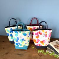 *春の新商品*帆布コンビミニトートバッグ【花】(全2色・4パターン)