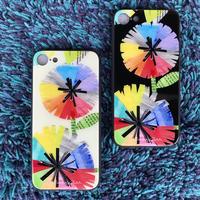✴︎新色虹花ブラック✴︎iphone11 Pro✴︎/iphone XS/X/7/8 背面ガラスケース【虹花】(フルールアンシエル)(全2色)
