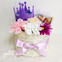おむつケーキ1段(crown)purple