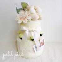 おむつケーキ2段(wedding cake)