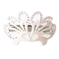 art deco crystal barrette  ivory