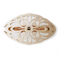art deco barrette  ivory