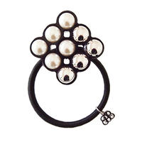 chloe pearl hair elastic  black