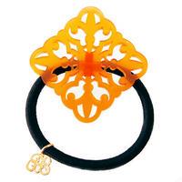 art deco hair elastic  orange
