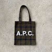 A.P.C.(アーペーセー)23201102319 チェックトートバッグ 46.KHA