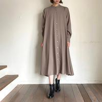mizuiroind(ミズイロインド)3-258546 フレアシャツワンピース 20.beige