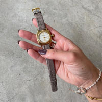 """Vague Watch Co.(ヴァーグウォッチカンパニー)""""COUSSIN 12 Croco"""" 0014.yellow gold×gray"""