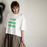 note et silence(ノートエシロンス)ロゴワイドTシャツ 01.WHT