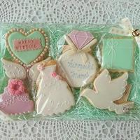 ウェディング アイシングクッキーセット