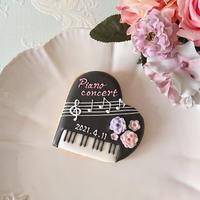 ピアノ アイシングクッキー (黒)