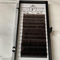 フラットカラーラッシュ 〈ブラウン〉0.15mm 長さMIX8〜13mm