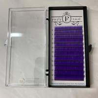 カラーフラットラッシュ〈パープル 〉 長さMIX 8〜13mm J.C.Dカール
