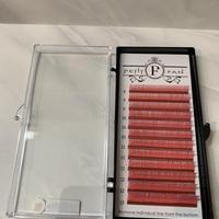 シングルカラーラッシュ〈ピンク〉 長さMIX 8mm〜13mm