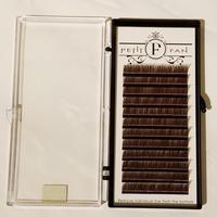 シングルカラーラッシュ《ブラウン》Dカール0.15mm 9~15mm