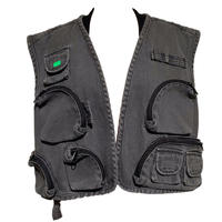 Ksenia Schnaider MEN/DENIM MULTI POCKET VEST