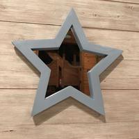 星型ミラー  大  ライトブルー
