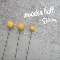 wooden ball(flower)