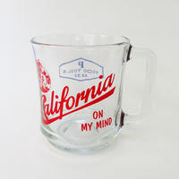84629 GLASS MUG  CALIFORNIA