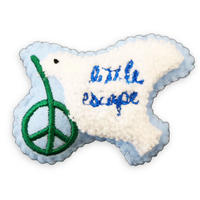 84362 PGクッションバッチ PEACE BIRD BLUE