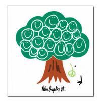 84470 PGステッカー L SMILE TREE