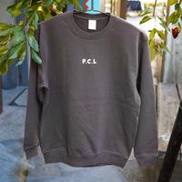 「PCL」クルーネックスウェット(プリント)