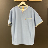 「THE UNION」THE BLUEST / HENLY NECK S/S SHIRTS / color - BLUE
