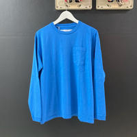 「NECESSARY or UNNECESSARY」POCKET  TEE  L/S / color - BLUE