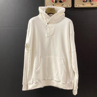 「THE UNION」THE FABRIC / HOOD ZIP PULLOVER SWT / color - WHITE