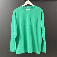 「NECESSARY or UNNECESSARY」POCKET  TEE  L/S / color - GREEN