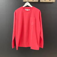 「NECESSARY or UNNECESSARY」POCKET  TEE  L/S / color - RED
