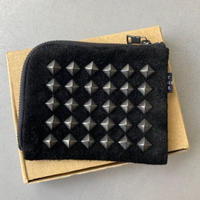 「THE UNION」 THE COLOR / STUDS HARF WALLET / color - BLACK