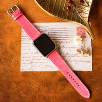 Apple Watch レザーベルト(44MM/40MM) ヴォー・エプソン/ローズアザレxヴォー・スイフト/ローズアザレ