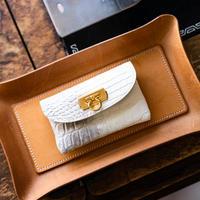 やわらかなレザーフラップmini財布  ヒマラヤクロコダイル