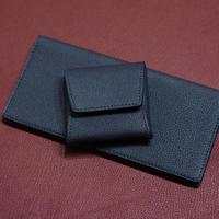 スマートなレザーコインケース シェーブル/ブルーニュイ(ネイビー)