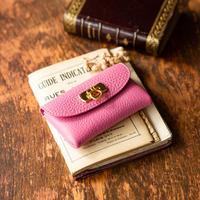 やわらかなレザーフラップ mini財布/リラ