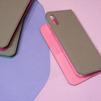 【iPhoneシリーズ対応】手帳型レザーiPhoneケース トゥルティエールグレーxローズコンフェッティ
